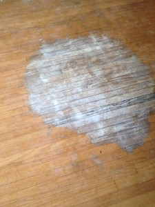 This giant stain was in the master bedroom!