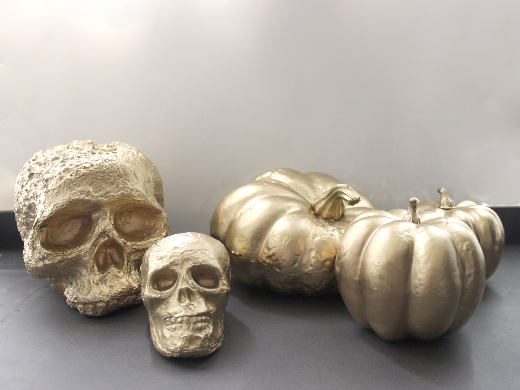 Gold Painted Skull