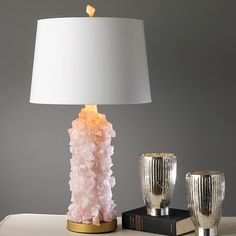 Rock Crystal Quartz Table Lamp from shadesoflight.com