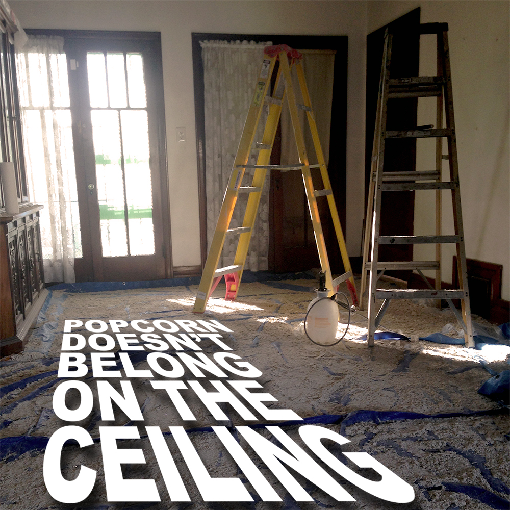 DIY: Popcorn Ceiling Repair