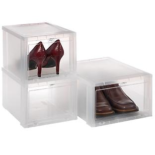 Container Store: Drop Front Shoe boxes