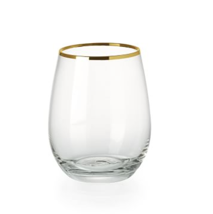 West Elm: Stemless Gold Rimmed Glassware