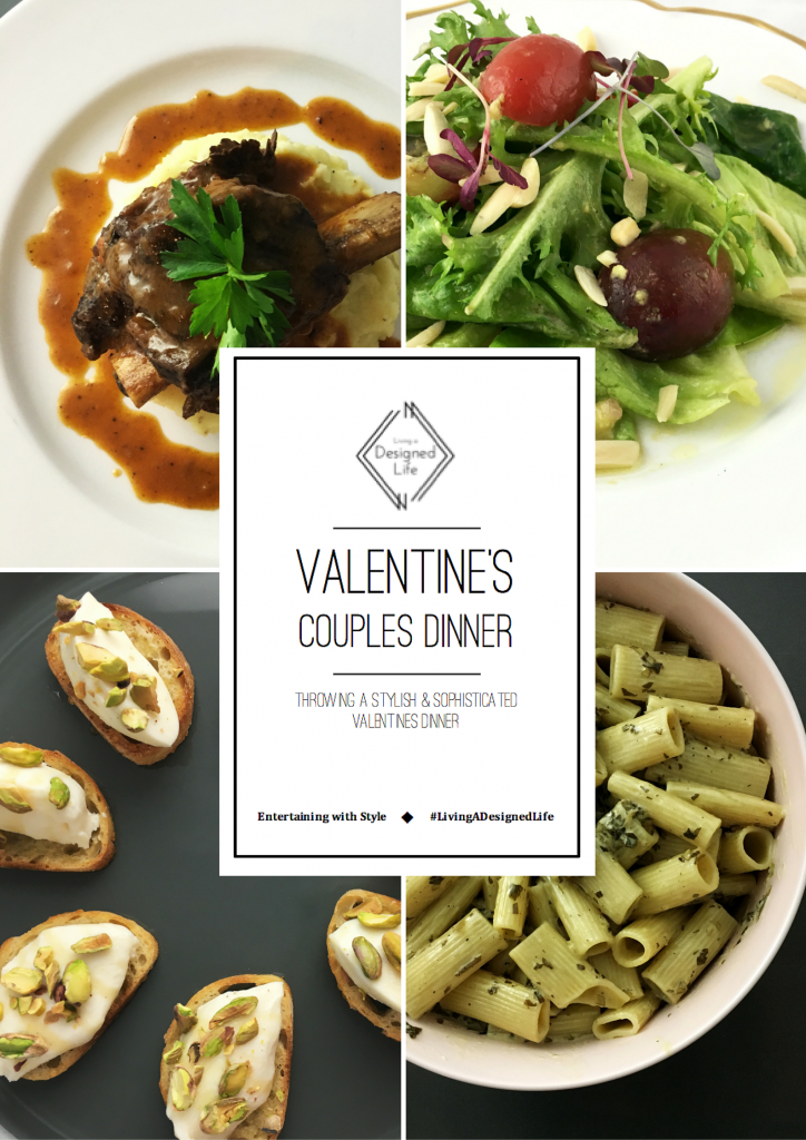 "Entertaining with Style: Valentine's Day Dinner ""The Food"""