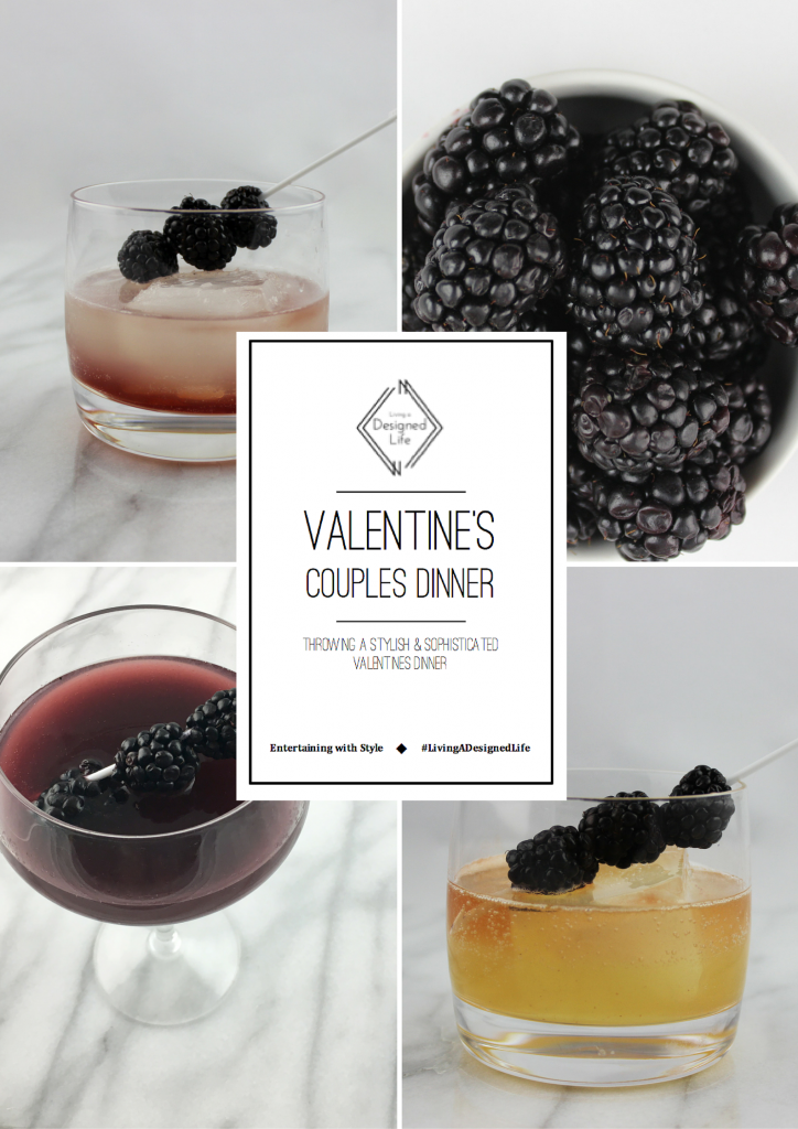 "Entertaining with Style: Valentine's Day Dinner ""The Cocktails"""