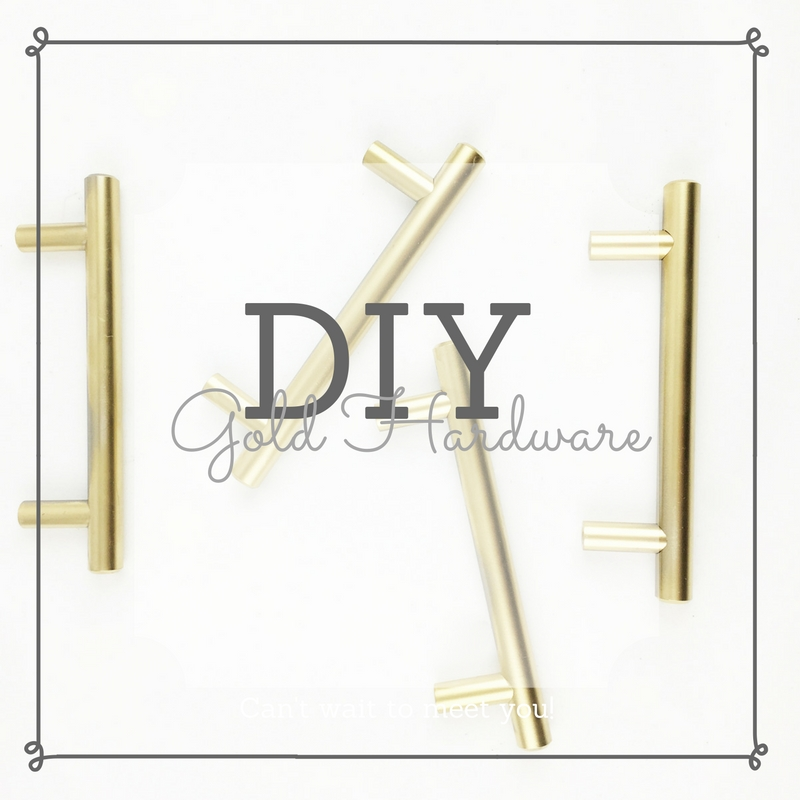 Roll Up Your Sleeves Series: DIY Gold Hardware